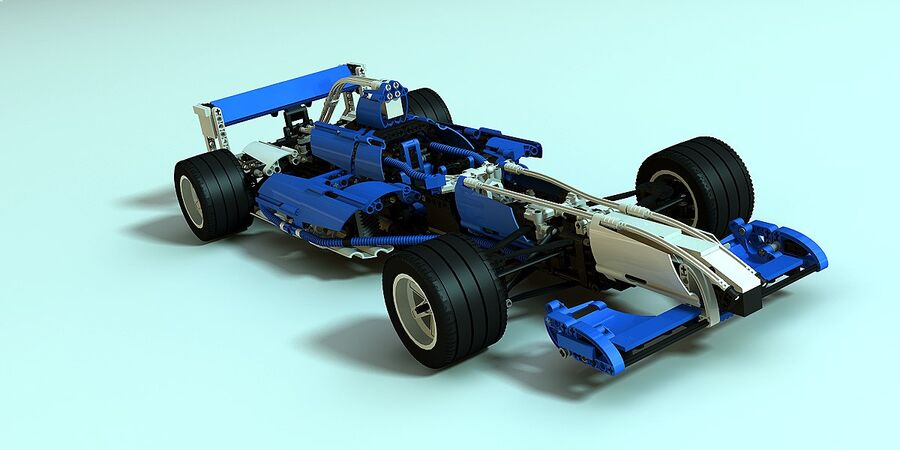 Lego #8461 Williams F1 Team Racer royalty-free 3d model - Preview no. 1