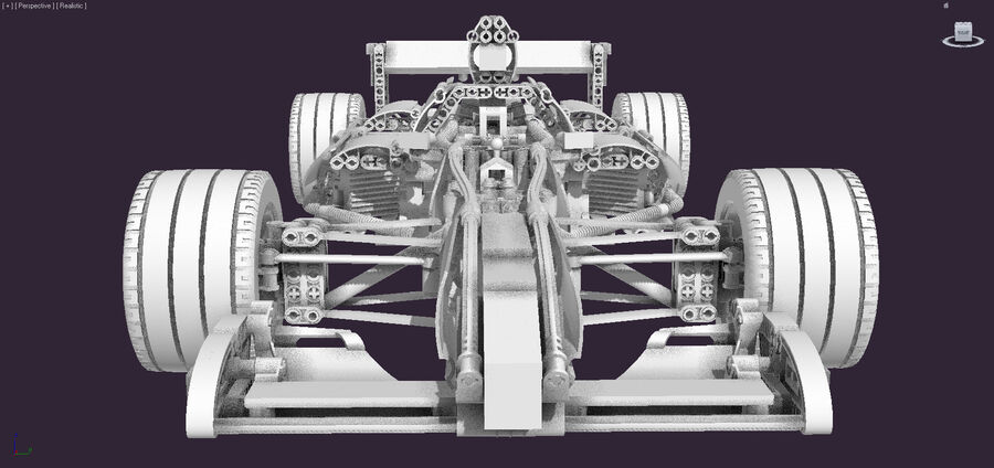 Lego #8461 Williams F1 Team Racer royalty-free 3d model - Preview no. 4