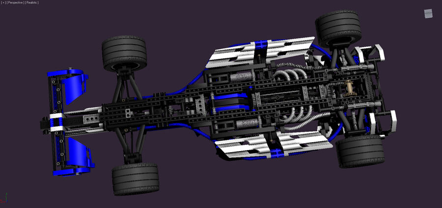 Lego #8461 Williams F1 Team Racer royalty-free 3d model - Preview no. 5