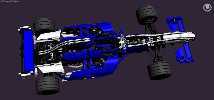 Lego #8461 Williams F1 Team Racer royalty-free 3d model - Preview no. 7