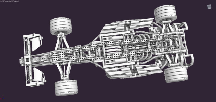 Lego #8461 Williams F1 Team Racer royalty-free 3d model - Preview no. 6