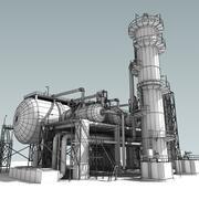 Alambre de la unidad de refinería modelo 3d