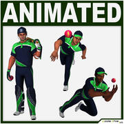 Коллекция наборов компьютерной графики для игроков в крикет 3d model