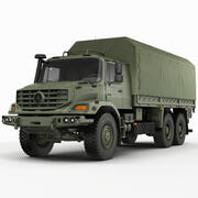 Mercedes Zetros Askeri 6X6 3d model