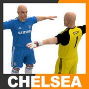 Futbolcu ve Kaleci - Chelsea FC 3d model