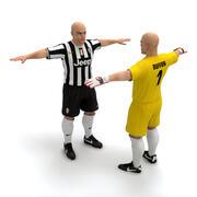 Futbolcu ve Kaleci - Juventus FC 3d model
