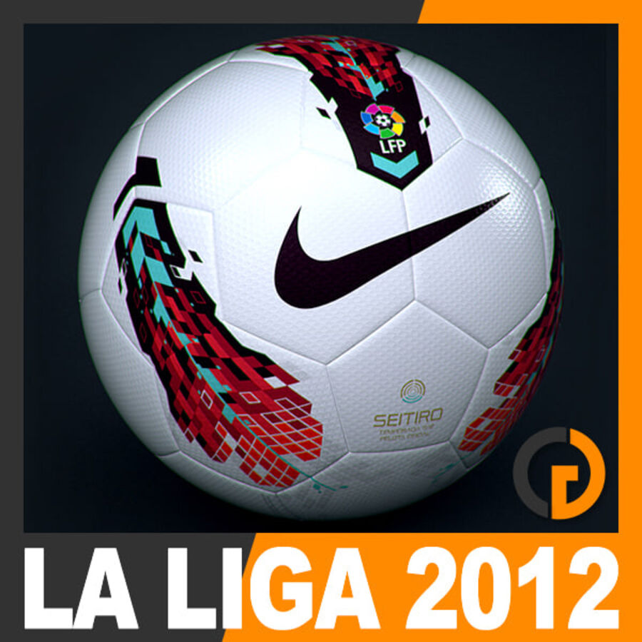 2011 2012 Nike T90 Seitiro Leagues Match Balls Pack royalty-free 3d model - Preview no. 3