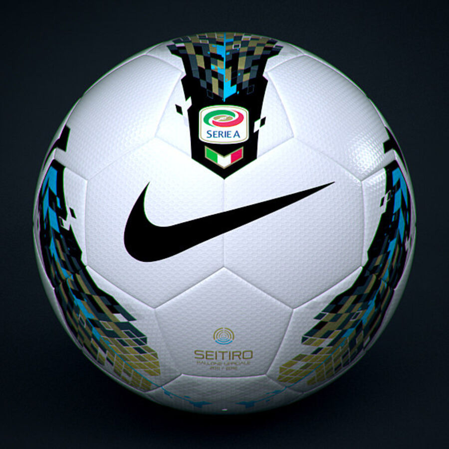 2011 2012 Nike T90 Seitiro Leagues Match Balls Pack royalty-free 3d model - Preview no. 14