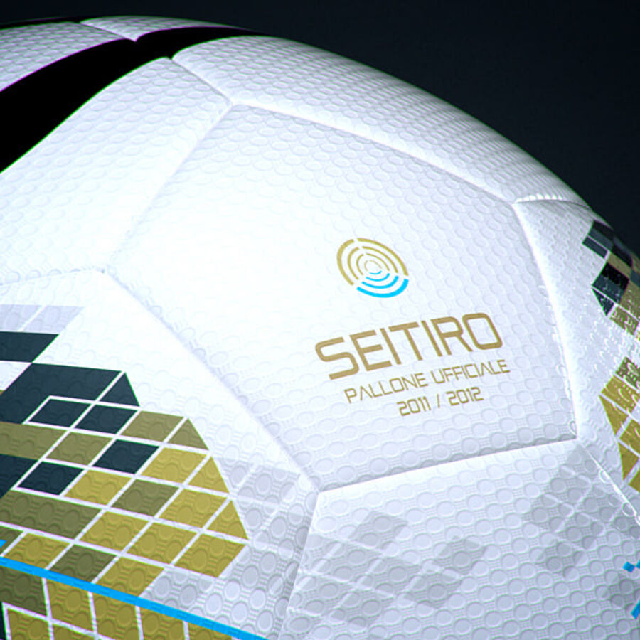 2011 2012 Nike T90 Seitiro Leagues Match Balls Pack royalty-free 3d model - Preview no. 34