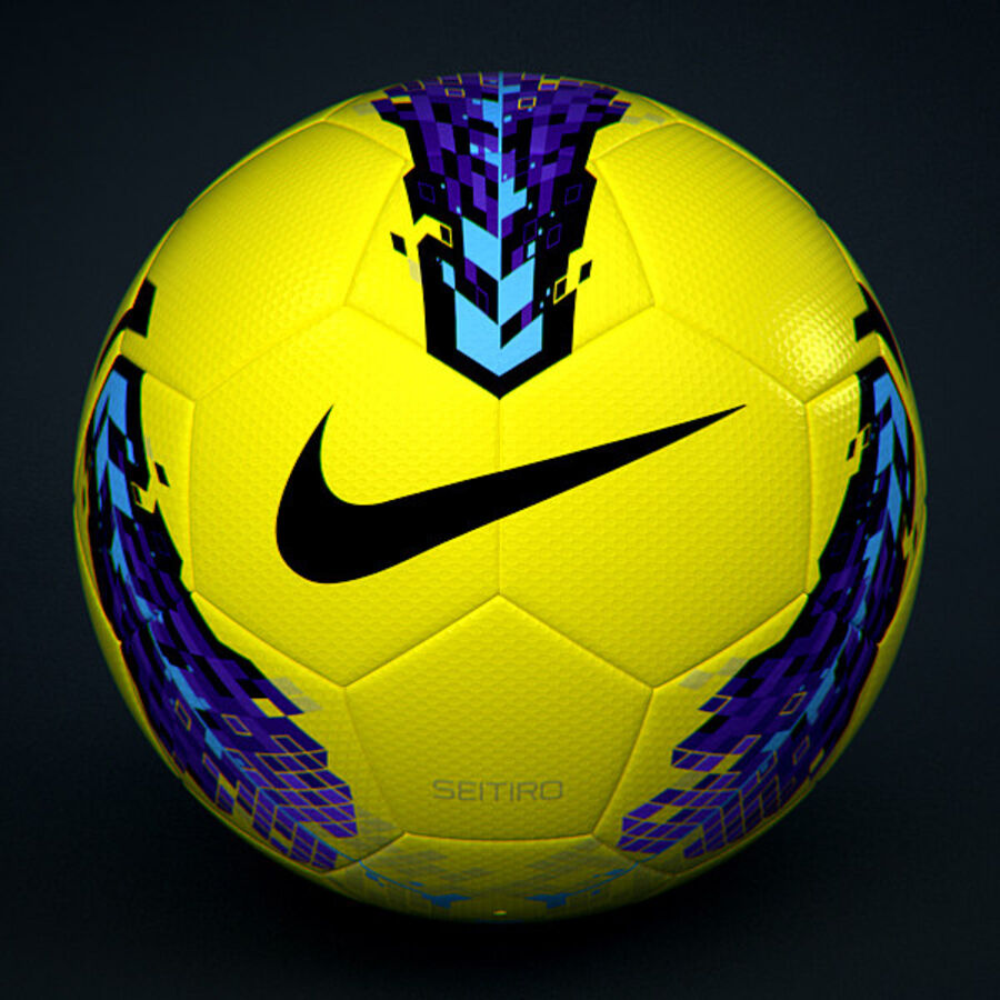 2011 2012 Nike T90 Seitiro Leagues Match Balls Pack royalty-free 3d model - Preview no. 16