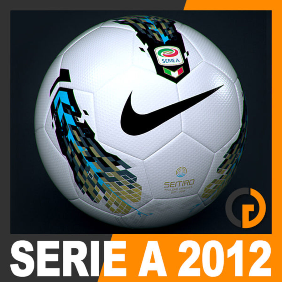 2011 2012 Nike T90 Seitiro Leagues Match Balls Pack royalty-free 3d model - Preview no. 4