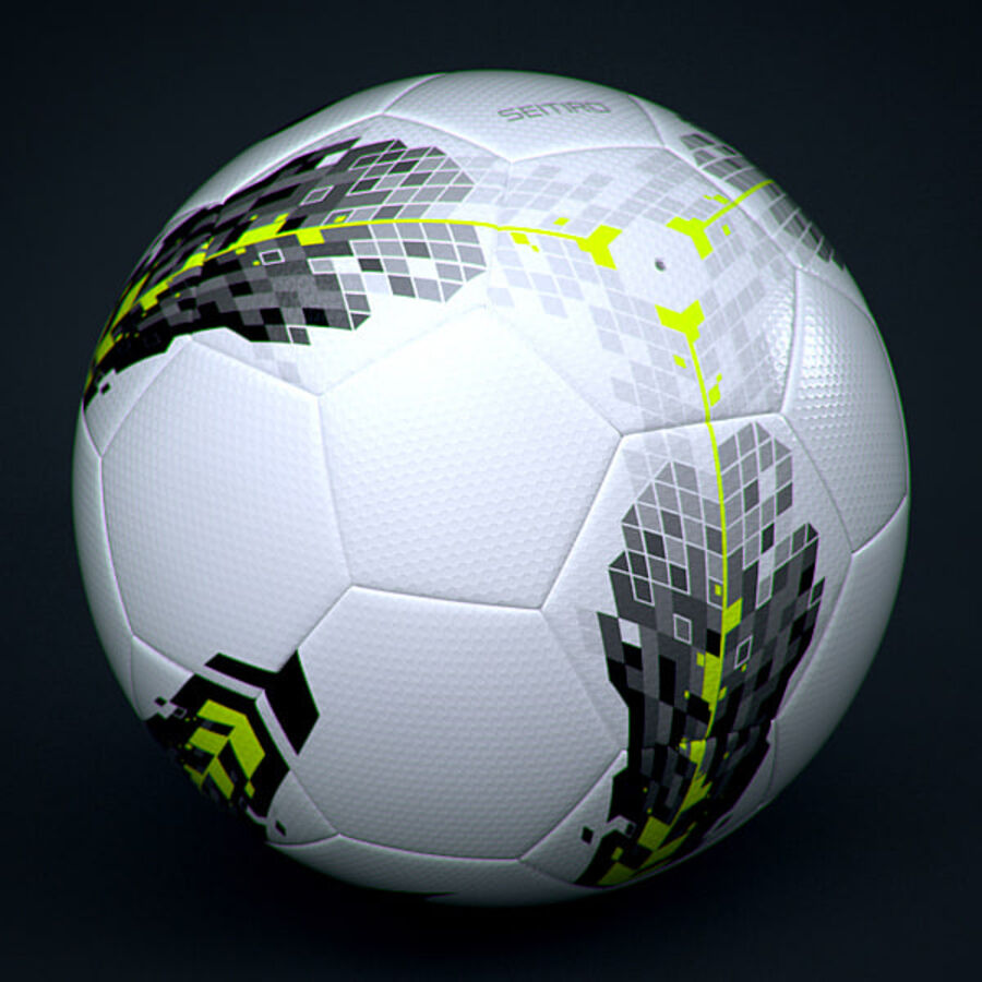 2011 2012 Nike T90 Seitiro Leagues Match Balls Pack royalty-free 3d model - Preview no. 10