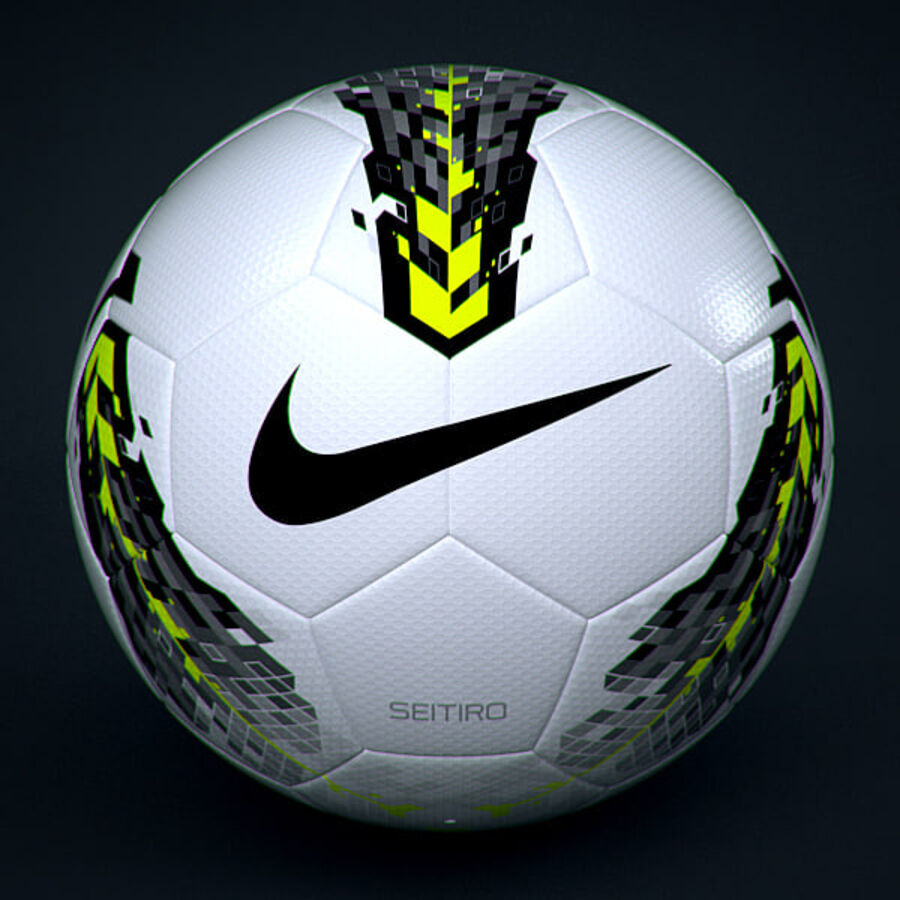 2011 2012 Nike T90 Seitiro Leagues Match Balls Pack royalty-free 3d model - Preview no. 15