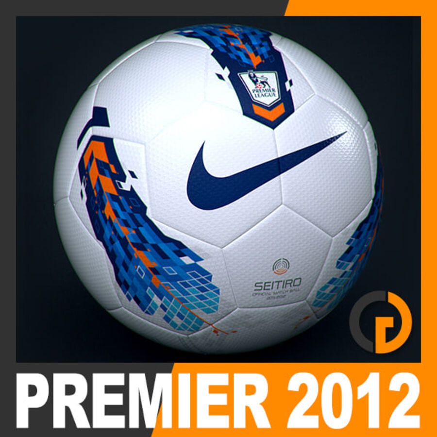 2011 2012 Nike T90 Seitiro Leagues Match Balls Pack royalty-free 3d model - Preview no. 2
