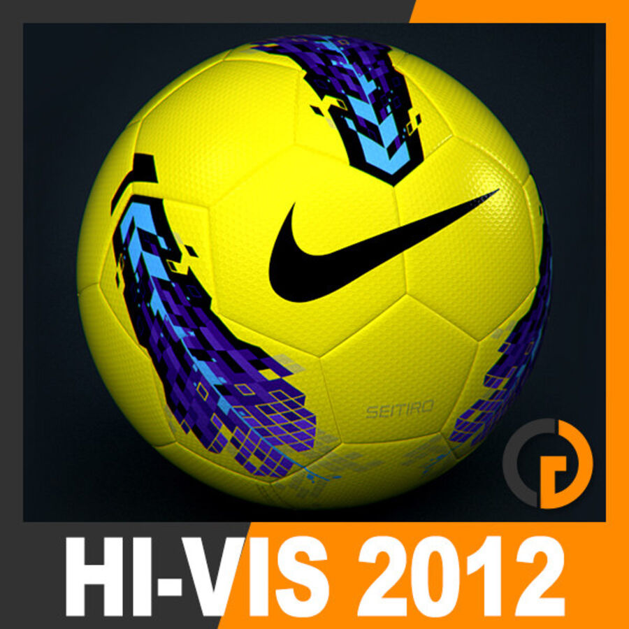 2011 2012 Nike T90 Seitiro Leagues Match Balls Pack royalty-free 3d model - Preview no. 6