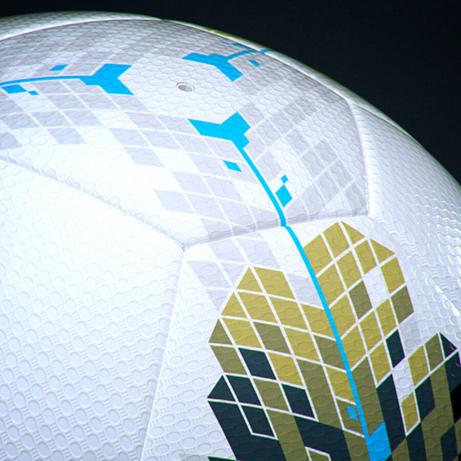 2011 2012 Nike T90 Seitiro Leagues Match Balls Pack royalty-free 3d model - Preview no. 24