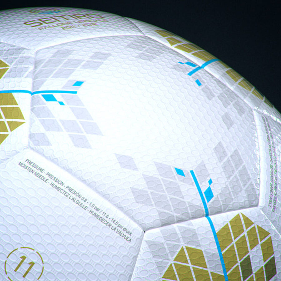 2011 2012 Nike T90 Seitiro Leagues Match Balls Pack royalty-free 3d model - Preview no. 29