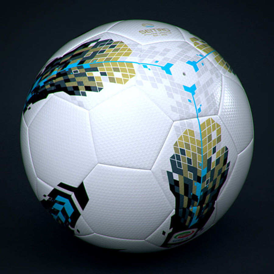 2011 2012 Nike T90 Seitiro Leagues Match Balls Pack royalty-free 3d model - Preview no. 9