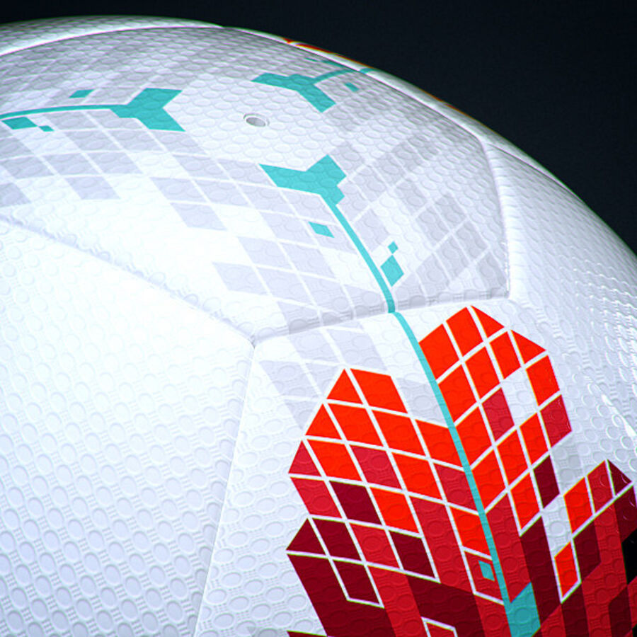 2011 2012 Nike T90 Seitiro Leagues Match Balls Pack royalty-free 3d model - Preview no. 23