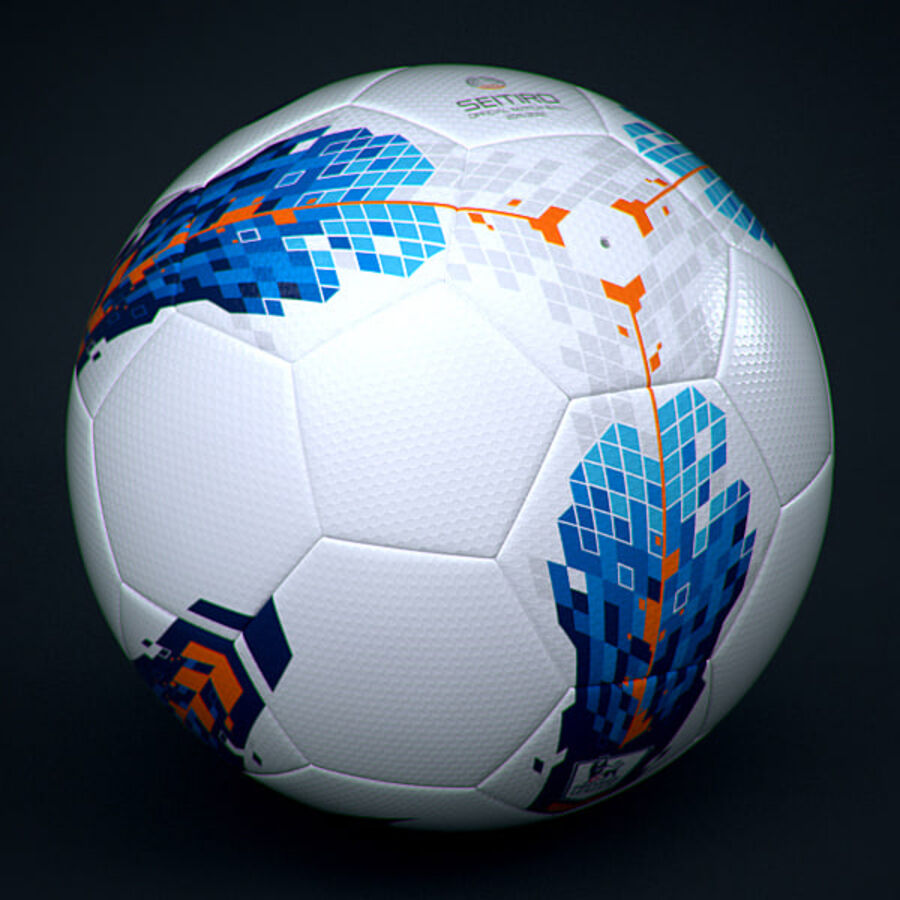 2011 2012 Nike T90 Seitiro Leagues Match Balls Pack royalty-free 3d model - Preview no. 7