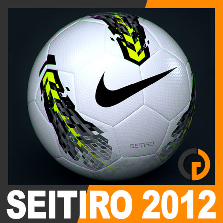 2011 2012 Nike T90 Seitiro Leagues Match Balls Pack royalty-free 3d model - Preview no. 5