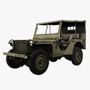 États-Unis WWII Bantam BRC 40 Light Vehicle 3d model