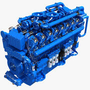 Moteur diesel V12 3d model