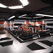 Sci Fi rymdskepp Station korridor 3d model