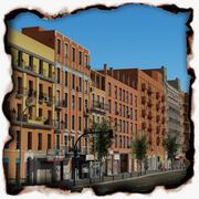 유럽 도시 블록 03 3d model