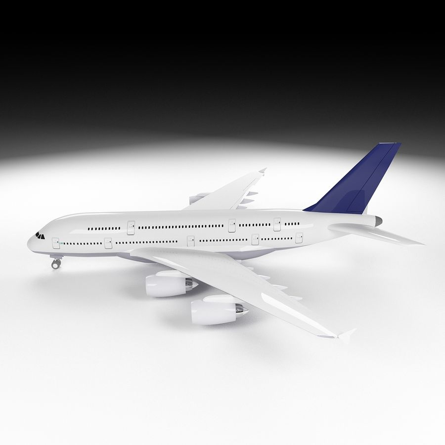 Airbus A380 royalty-free 3d model - Preview no. 6