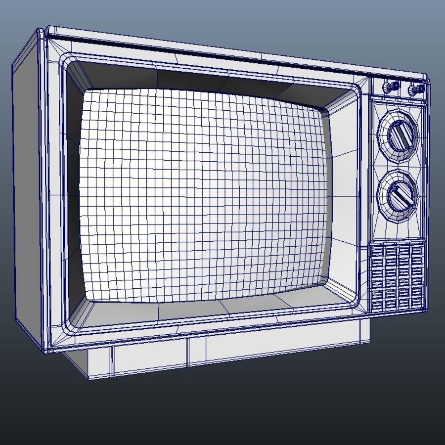 旧テレビ royalty-free 3d model - Preview no. 4