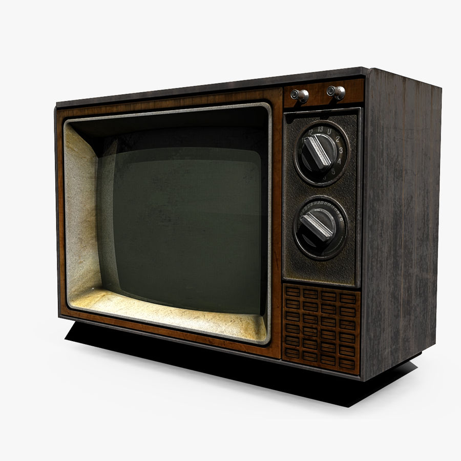 Oude tv royalty-free 3d model - Preview no. 1