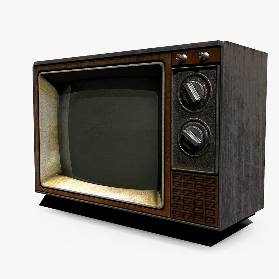 TV vieja royalty-free modelo 3d - Preview no. 1
