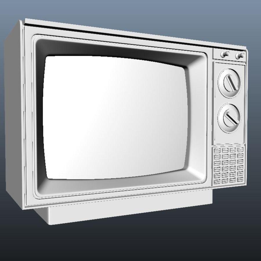 旧テレビ royalty-free 3d model - Preview no. 3