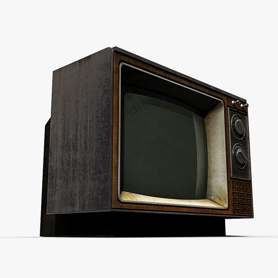 Oude tv royalty-free 3d model - Preview no. 6
