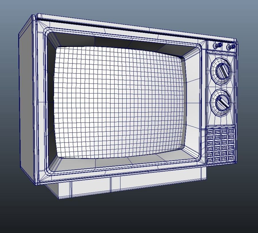 Oude tv royalty-free 3d model - Preview no. 4