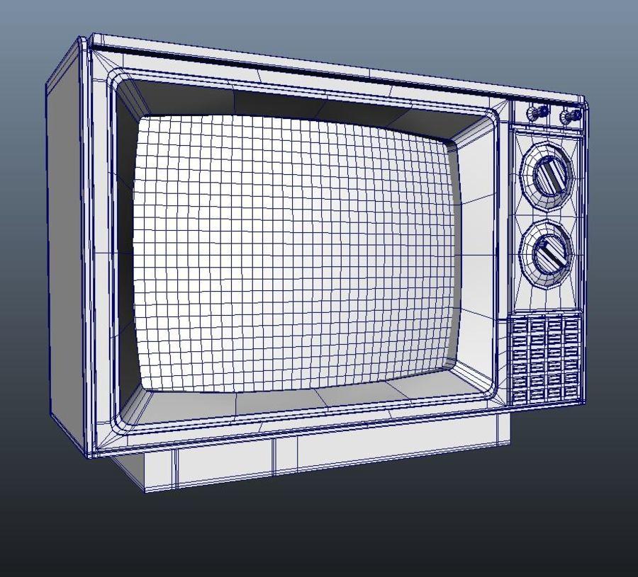 Vecchia TV royalty-free 3d model - Preview no. 4