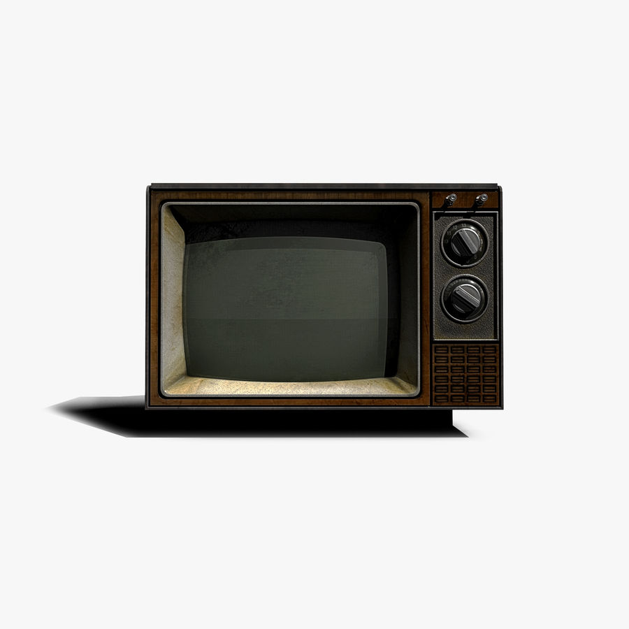 Oude tv royalty-free 3d model - Preview no. 2