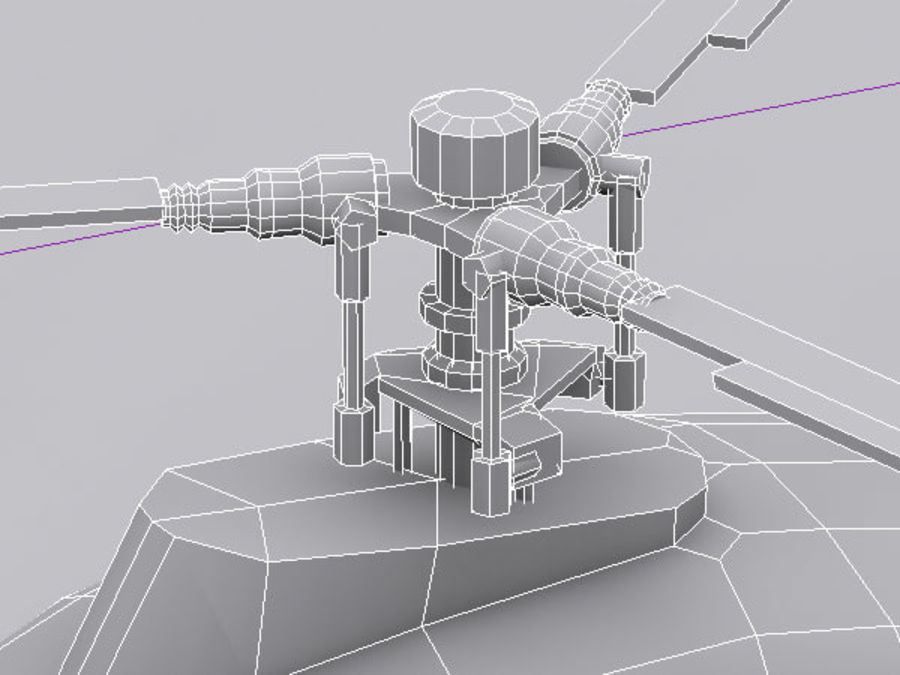 Helikopter Mil Mi-2 royalty-free 3d model - Preview no. 8
