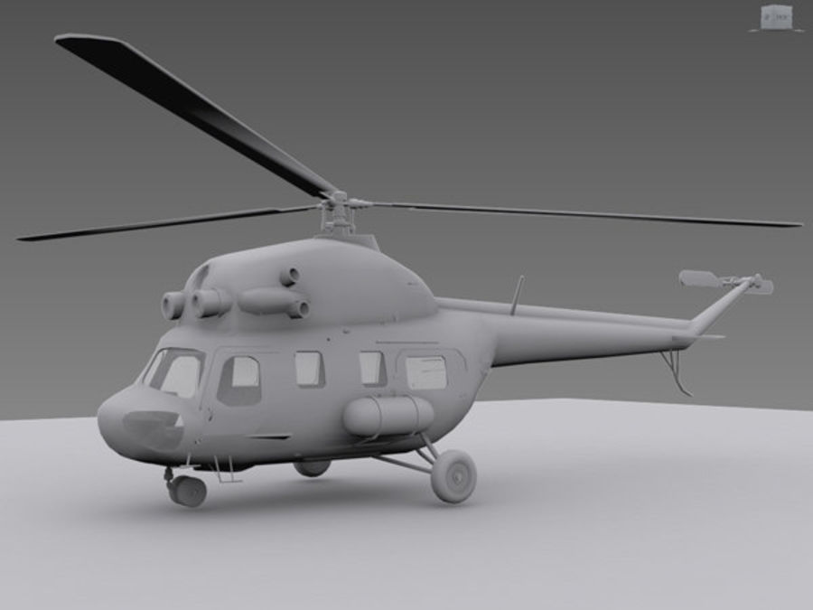 Helicopter Mil Mi-2 royalty-free 3d model - Preview no. 1