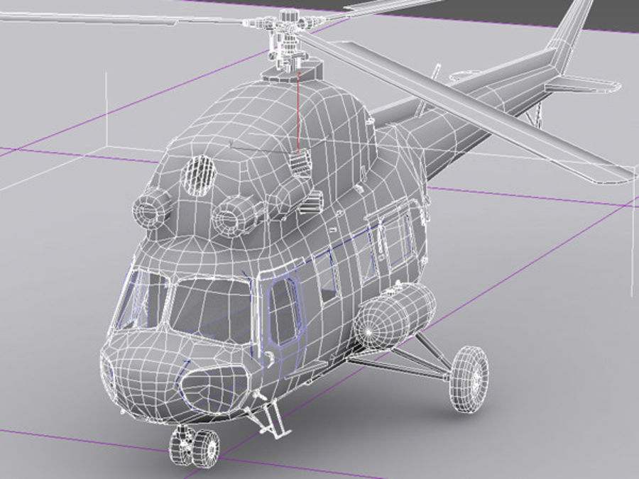 Helicopter Mil Mi-2 royalty-free 3d model - Preview no. 6