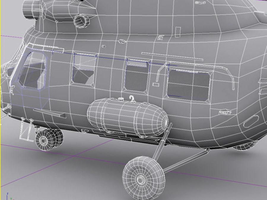 Helicopter Mil Mi-2 royalty-free 3d model - Preview no. 5