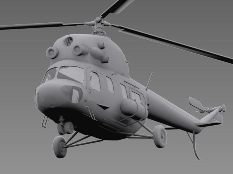 Helicopter Mil Mi-2 royalty-free 3d model - Preview no. 4