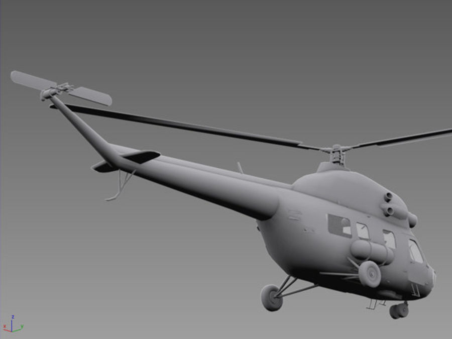 Helicopter Mil Mi-2 royalty-free 3d model - Preview no. 3