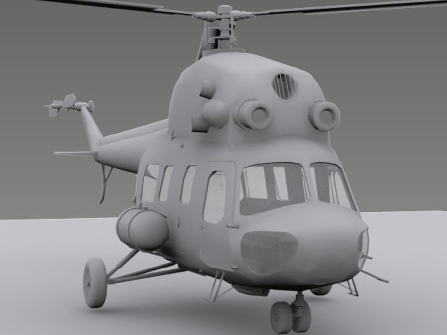Helicopter Mil Mi-2 royalty-free 3d model - Preview no. 2