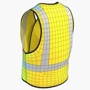 Safety Vest Construction High Visibility PPE 3d model