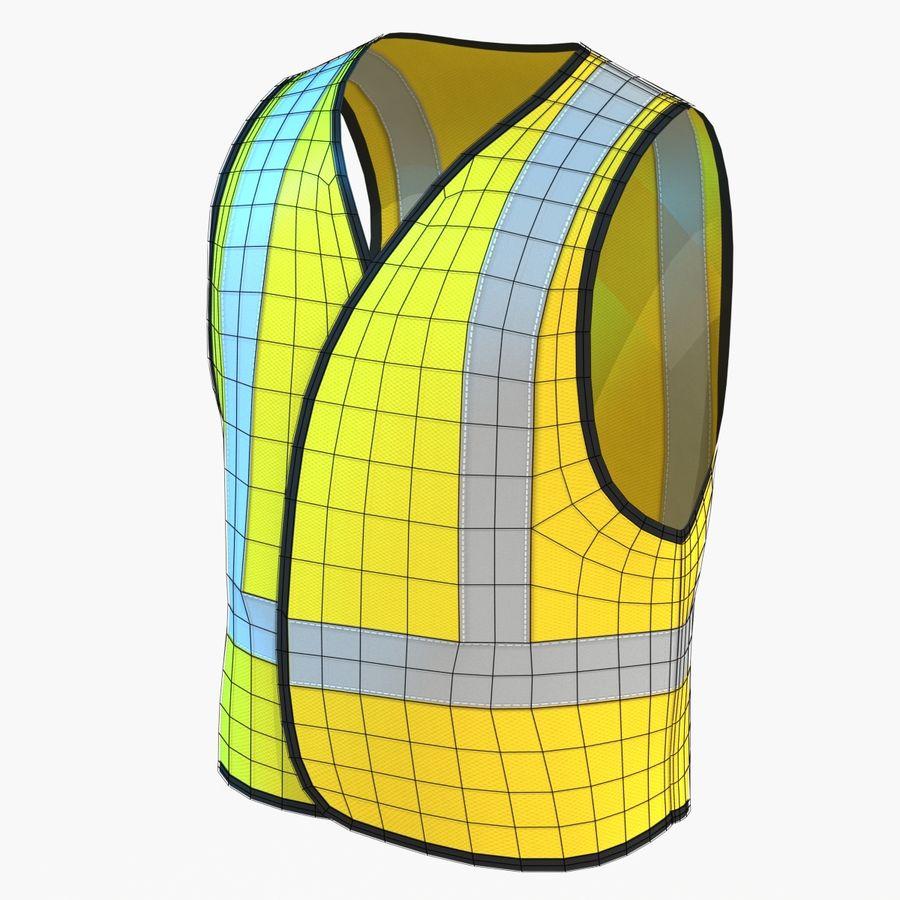 EPP alto da visibilidade da construção da veste da segurança royalty-free 3d model - Preview no. 4