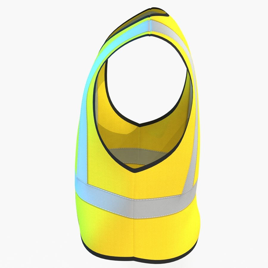 EPP alto da visibilidade da construção da veste da segurança royalty-free 3d model - Preview no. 5