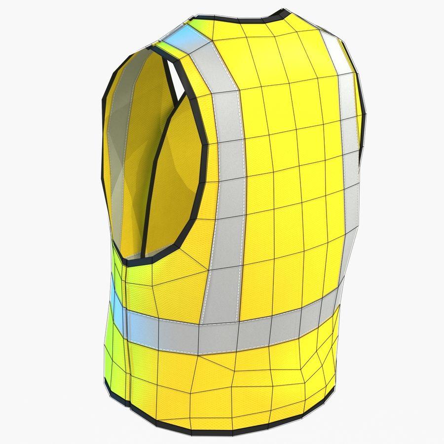 EPP alto da visibilidade da construção da veste da segurança royalty-free 3d model - Preview no. 7