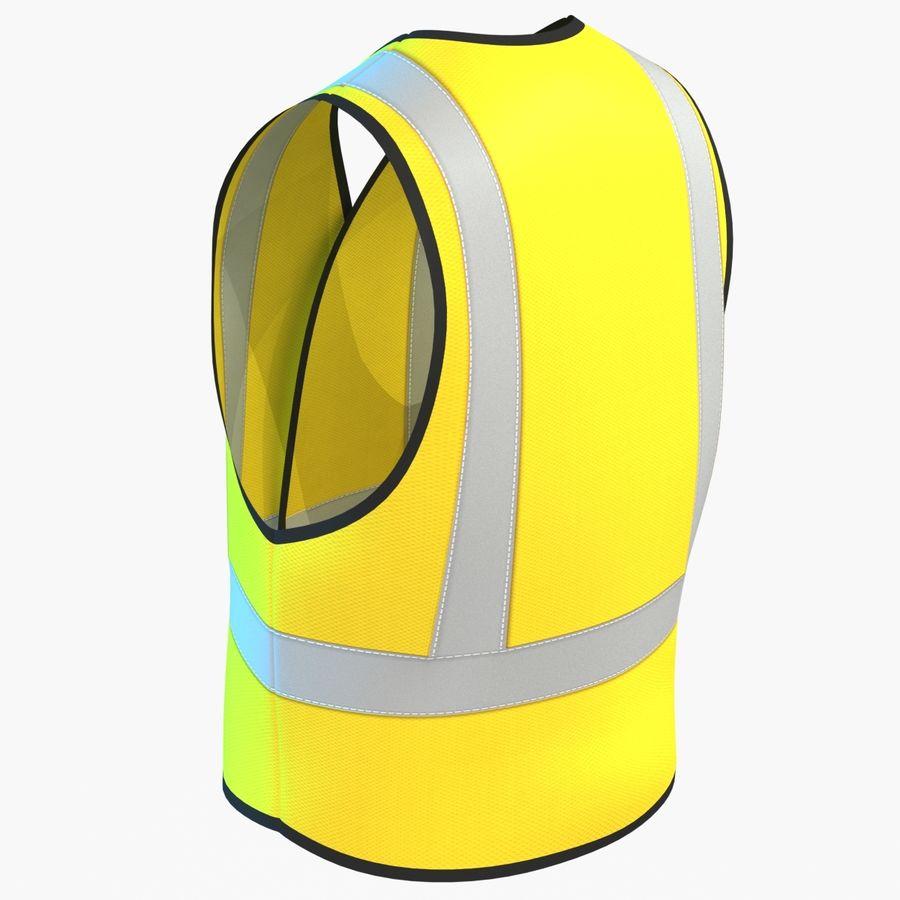 EPP alto da visibilidade da construção da veste da segurança royalty-free 3d model - Preview no. 6